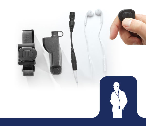 Combi iBlend RF Wireless PTT Kit-Ear Phone Connection