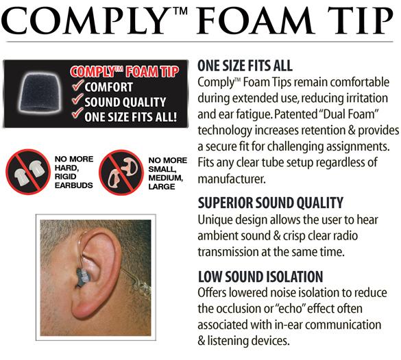 Comply Foam Tip 3 Pak