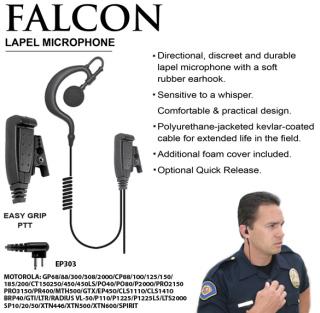Falcon Earhook Lapel Microphone