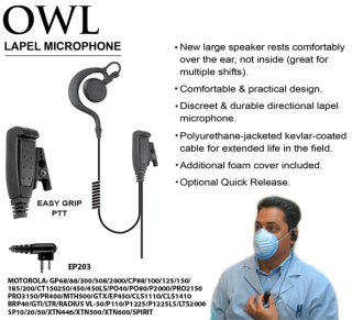 Owl Large Speaker Lapel Microphone