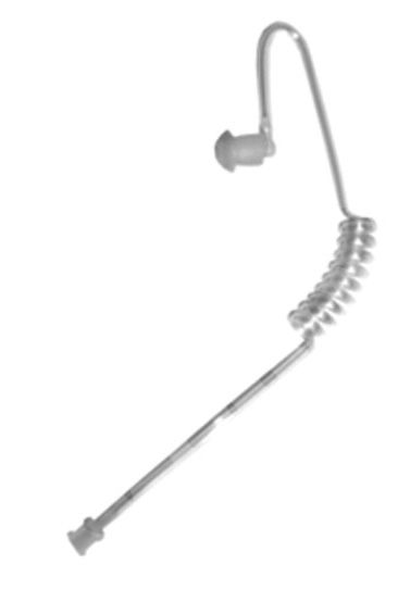 Clear Tube-Ear Phone Connection