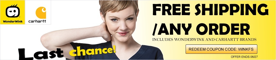 free shipping - any wink scrubs order