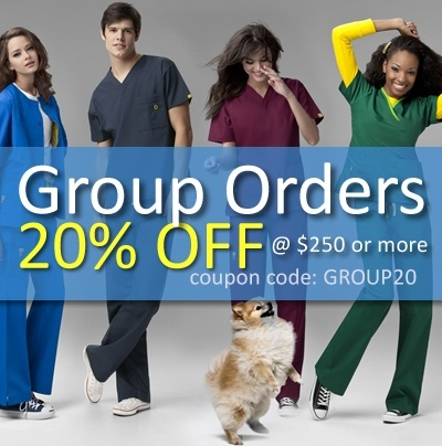 Group orders get 20% OFF $250 or more