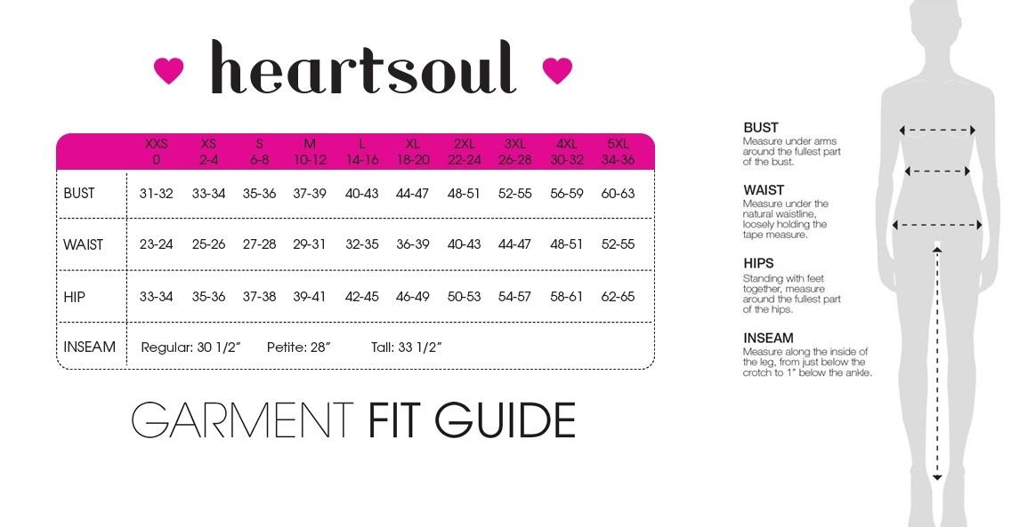 heartsoul womens size chart