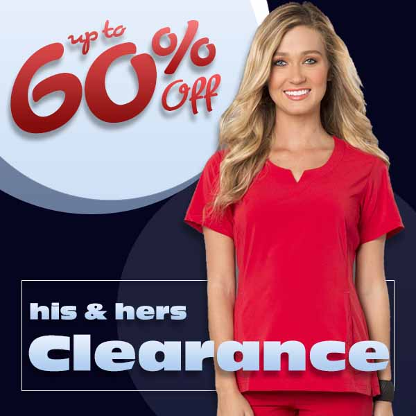 Shop Clearance scrubs, uniforms, shoes and more now up to 60% OFF while supplies last.