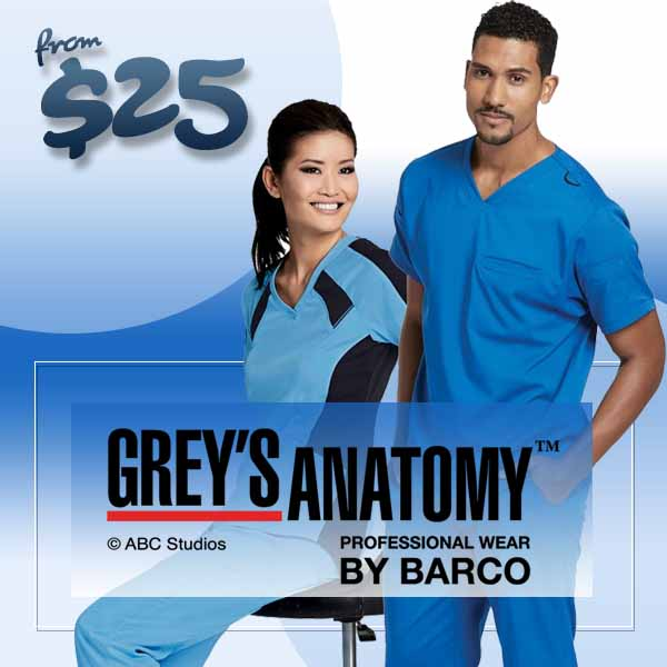 Shop grey's anatomy scrubs for him and her. Famous styles you'l love!