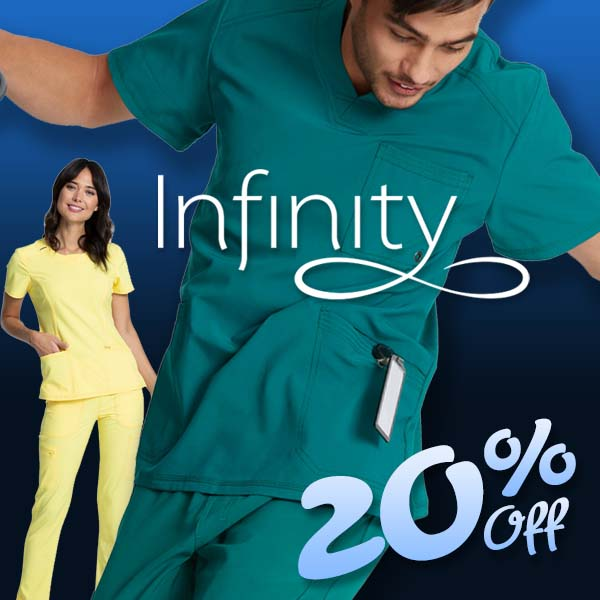 Shop Infinity medical scrubs for men and women