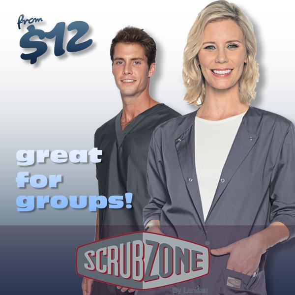 Shop Landau ScrubZone uniforms and scrubs