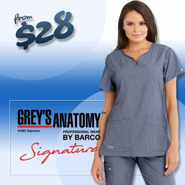 Shop Grey's Signature scrubs while supplies last