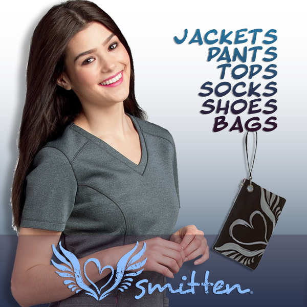 Shop Smitten brand medical uniforms and scrubs, shoes and accessories