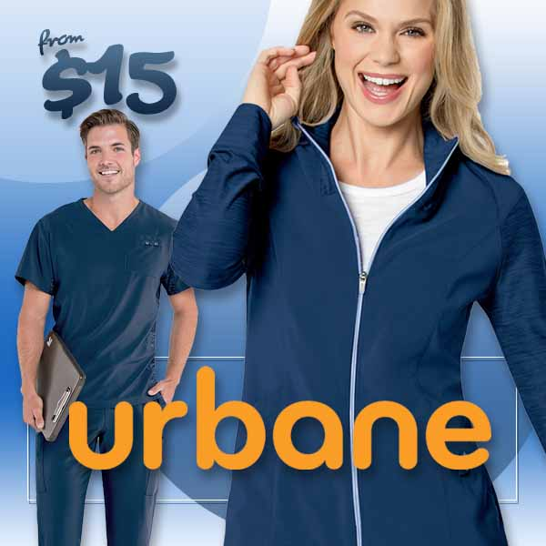 Shop Urbane uniforms and scrubs for men and women. Sporty styles, soft, stretch fabrics and your favorite core colors and sizes are in stock at a1scrubs.com