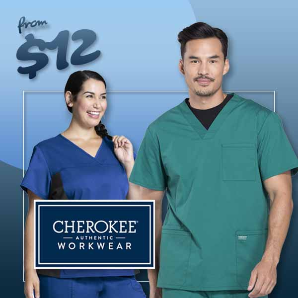 Shop authentic Cherokee WorkWear uniforms adn scrubs for him and her at great prices online everyday!