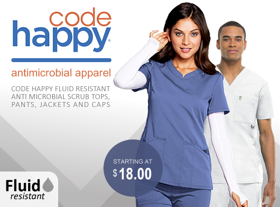 code happy fluid resistant uniforms and scrubs
