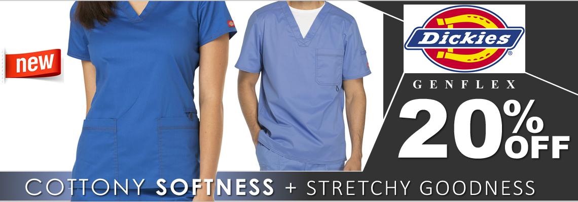Dickies Gen Flex scrubs - 20% OFF Today