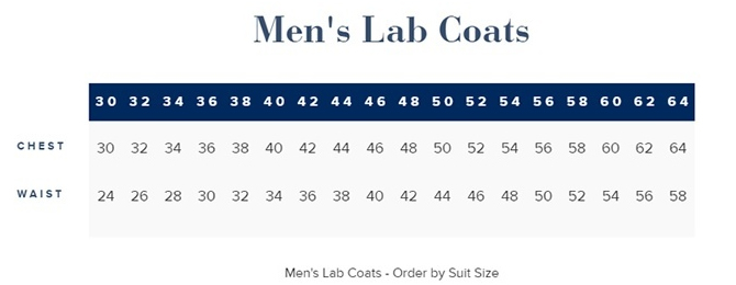 Landau Men's 100% Cotton Lab Coat With Cloth Knot Buttons - 3138