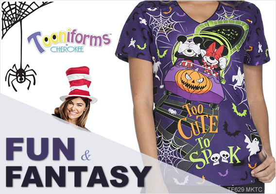 tooniforms - printed uniform scrubs for halloween