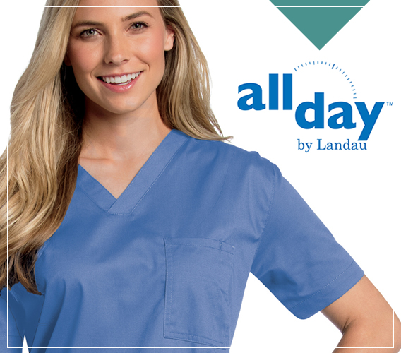 Landau ALL DAY uniforms and scrubs