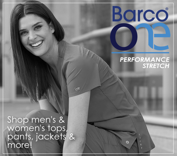 Barco One scrubs  - performance stretch goes beyond comfort and styling - get yours today!