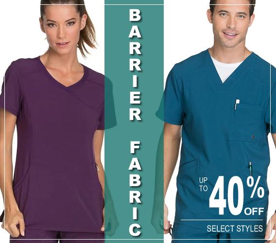 Barrier fabric scrubs