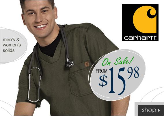 New Carhartt scrubs for men and women from $15.98