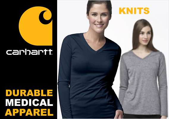 carhartt knits - long sleeve knit tees - underscrubs