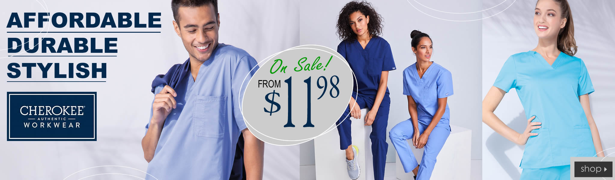 authentic cherokee workwear scrubs - from $11.98