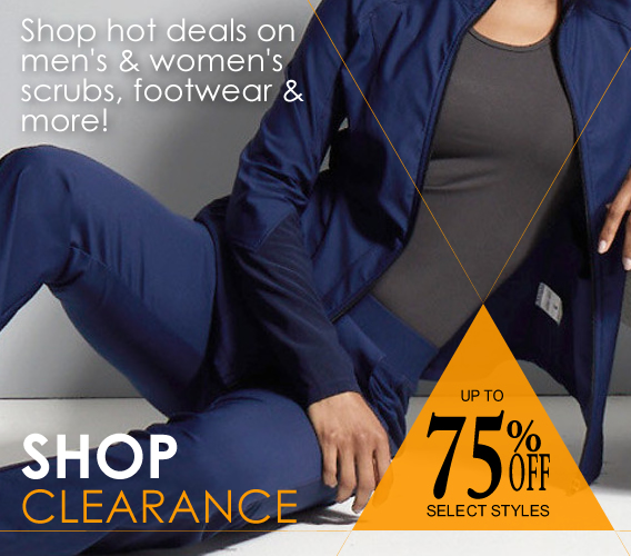 Shop the latest deals on clearance scrubs, shoes and more and take advantage of the savings - up to 75% OFF