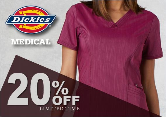 DICKIES SCRUBS 20% off