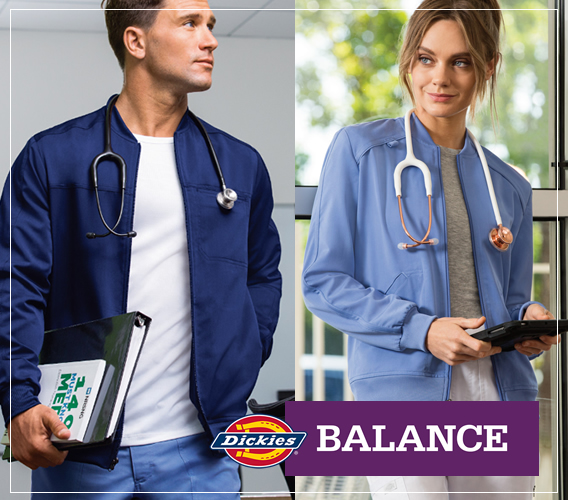 Shop Dickies Balance  uniforms and scrubs online and save