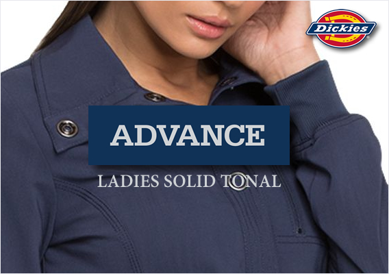 dickies advance ladies solid tonal scrubs
