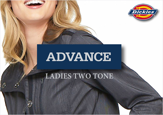 New Dickies ladies two tone twist scrubs - ADVANCE