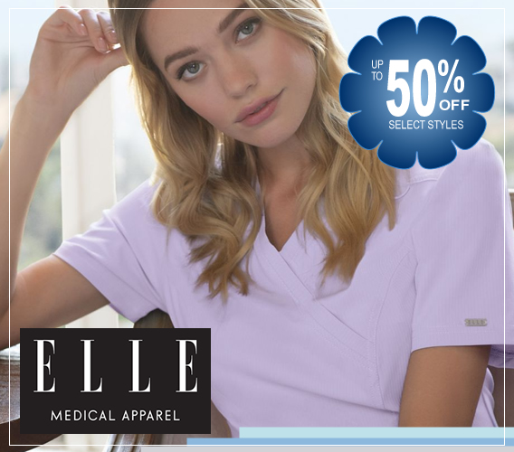 ELLE Medical uniforms and scrubs up to 50% OFF - take advantage of this deal!!
