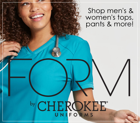 Shop FORM scrubs by Cherokee. Soft, stretch scrubs - all day comfort in every style!