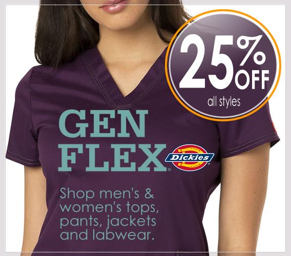 Shop GEN FLEX  scrubs now 25% OFF all styles
