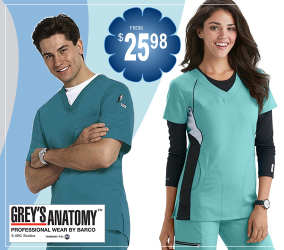 Grey's anatomy uniforms and scrubs