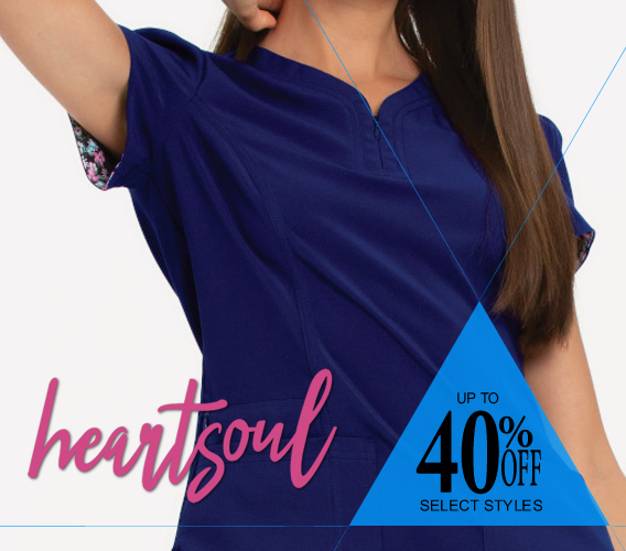 heartsoul uniforms and scrubs on sale now!