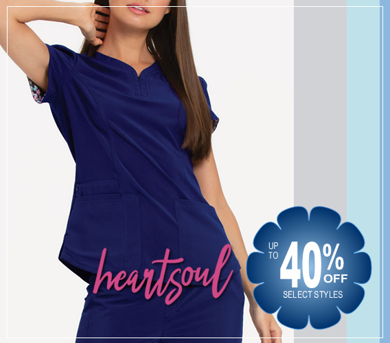Up to 40% OFF Select style of HeartSSoul scrubs, tops, pants and more!