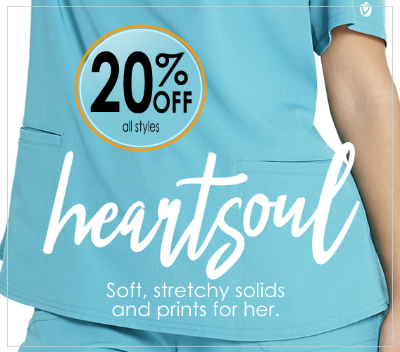 Shop and save 20% OFF Heartsoul uniforms and scrubs