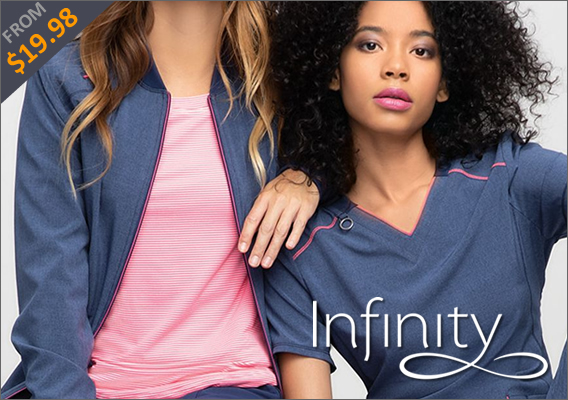 Premium Infinity nursing uniforms and scrubs!
