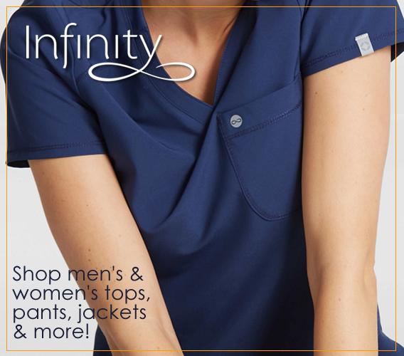 Infinity scrubs for men and women!