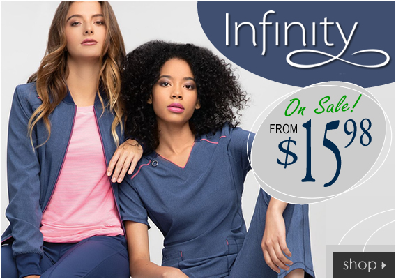 Infinity brand medical uniforms and scrubs