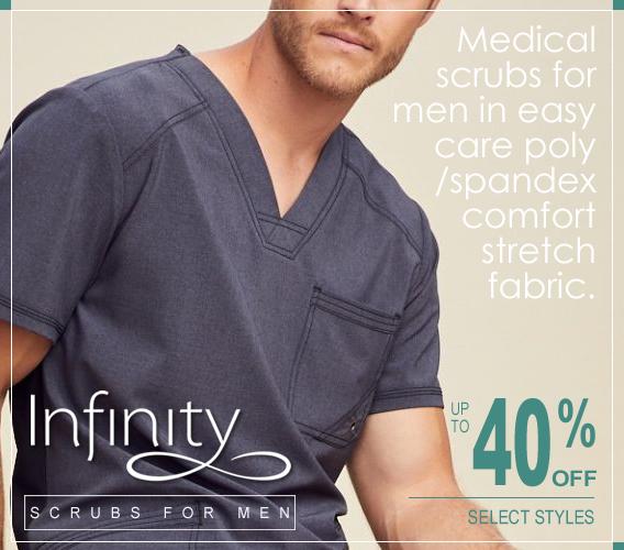 Infinity scrubs for men