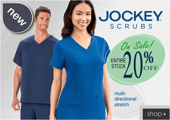 20% OFF Jockey scrubs and more - shop now!