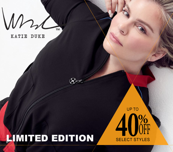 Shop Katie Duke limited edition scrubs and take advantage of this sale - up to 40% OFF select styles
