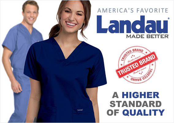 Landau brand uniforms and scrubs