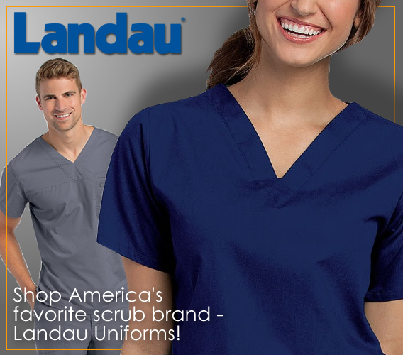Shop Landau brand nursing uniforms and medical scrubs