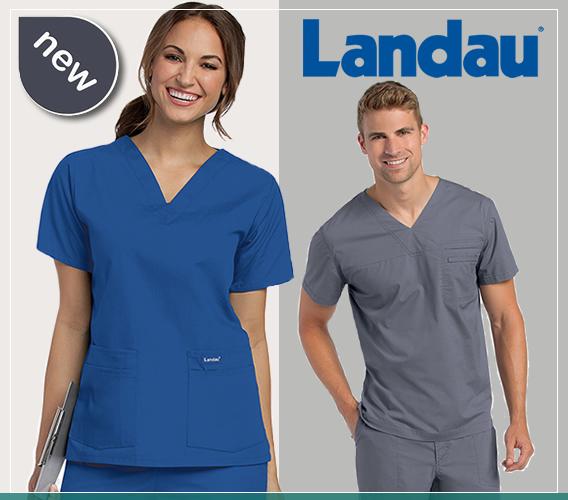 Landau brand nursing and medical uniforms and scrubs for nurses, doctors, emt's, teachers and all medical professional staff