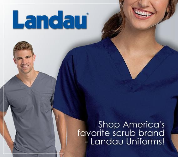 Shop Landau brand uniforms adn scrubs