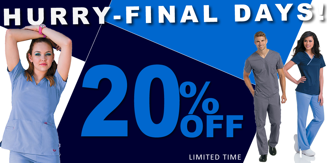 Hurry - FINAL DAYS - 20% OFF Landau scrubs & More!