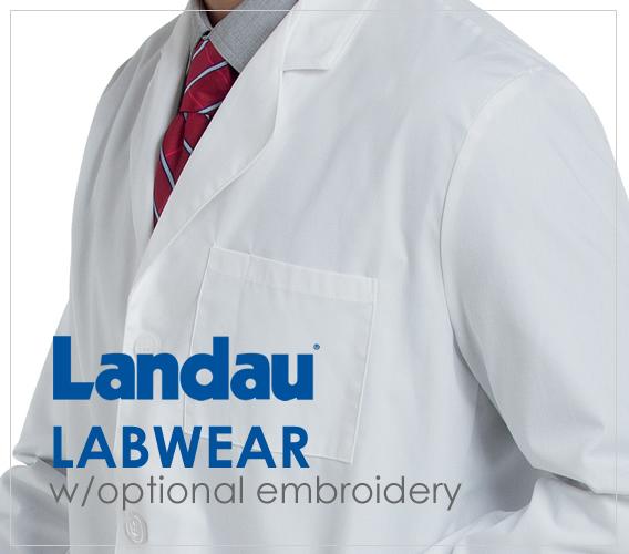 Shop Landau Labwear with optional embroidery